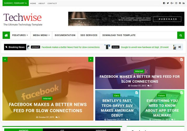 TechWise Blogger Theme