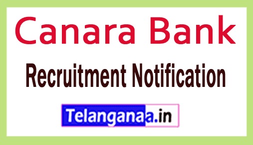 Canara Bank Recruitment Notification