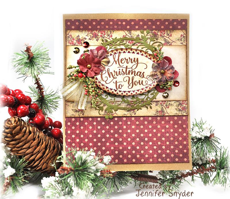 Scrap Escape Justrite Papercrafts Merry Christmas Card