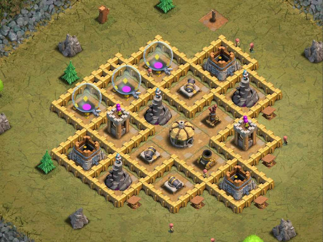 Goblin Base Clash of Clans Faulty Towers
