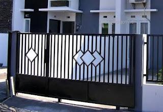 Contoh pagar besi rumah minimalis modern