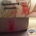 Upholstery disaster... please do not use the wrong cleaning product...