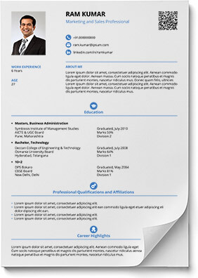 Create your Professional Resume