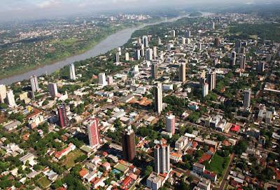Foz do Iguaçu cidade com redução de população