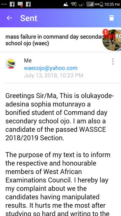 BREAKING: WAEC 2018 Failed Command Day Secondary School Candidates