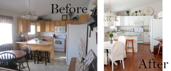 A Few Of My Favorite Things Living Room Kitchen Before After