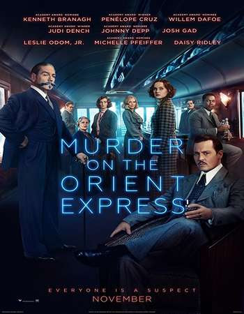 Poster Of Murder on the Orient Express 2017 Full Movie In Hindi Dubbed Download HD 100MB English Movie For Mobiles 3gp Mp4 HEVC Watch Online
