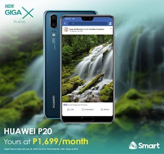Huawei P20 now Available via Smart GigaX Plan 999 + Device Monthly Fee