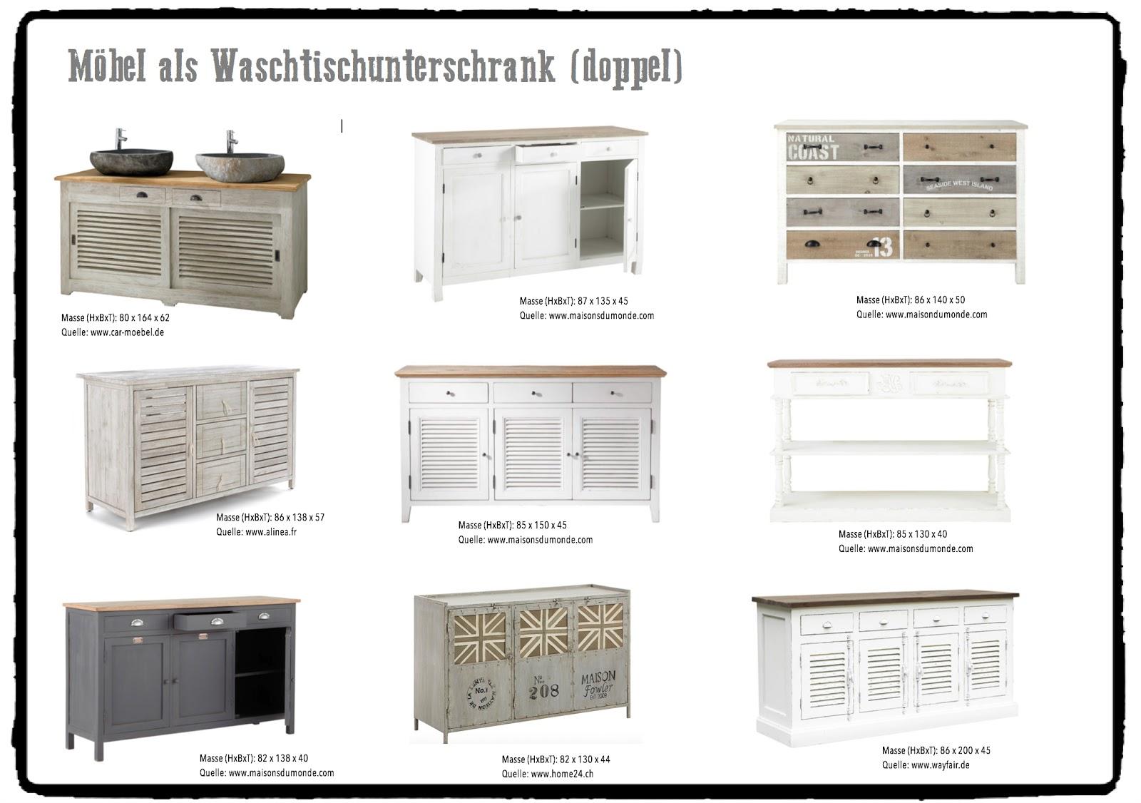 Doppelwaschtisch maße  Doppelwaschtisch Mit Unterschrank Landhaus | gispatcher.com