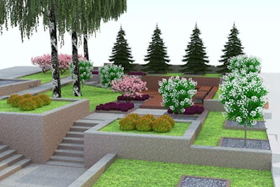 Formal gardens on multiple layers