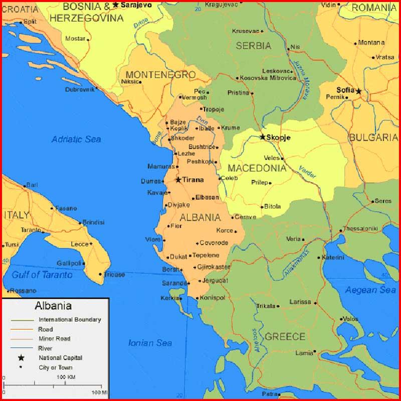 image: Albania Map high resolution