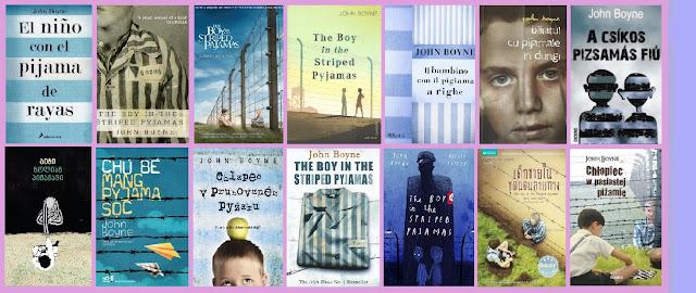 portadas del libro El niño con el pijama de rayas