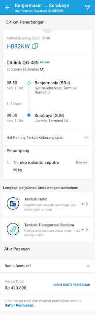 contoh e-tiket traveloka yang telah terbit 2018