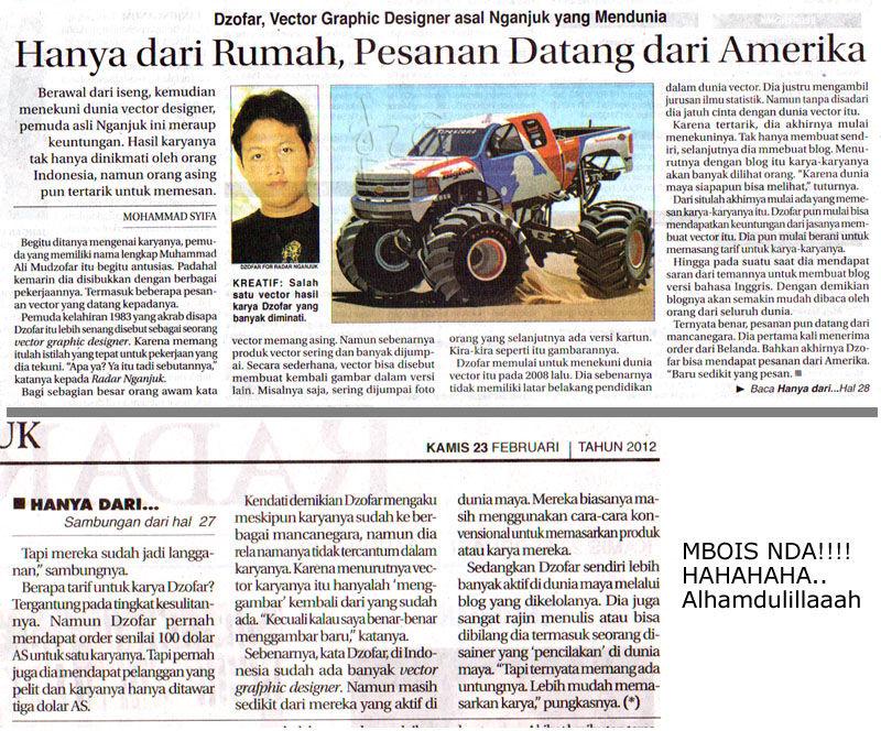 Masuk koran Jawa Pos Radar Nganjuk 23 Februari 2012