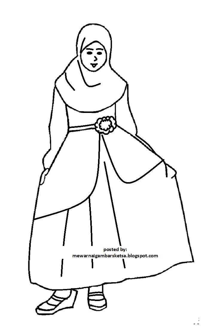 Kumpulan Sketsa Gambar Baju Princess