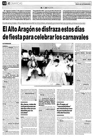 El Alto Aragón se disfraza estos días de fiesta para celebrar los carnavales