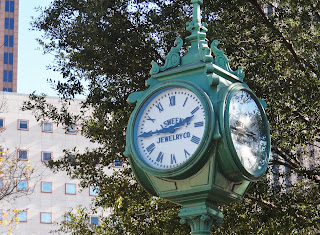 Historic Sweeney Clock in Houston's Theater District