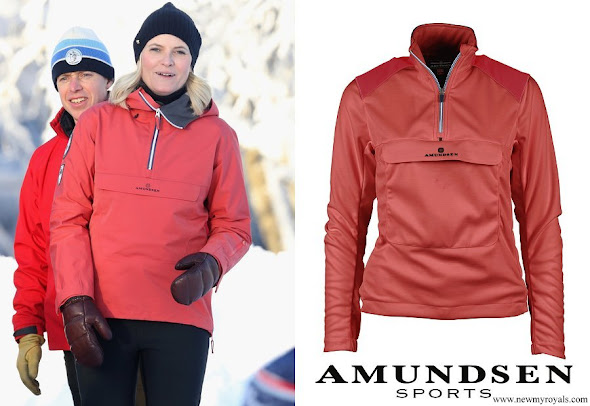 Crown Princess Mette Marit Norway wore Amundsen Sports 5mila anorak