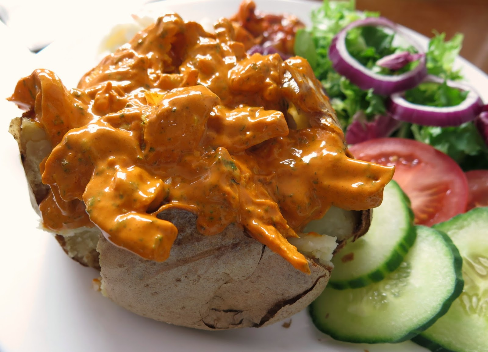 tikka baked potato
