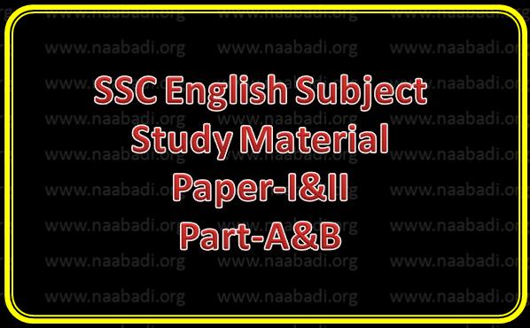 SSC English Study Material Paper-I&II, Part-A&B