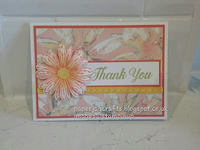 paperjay Crafts, Daisy Delights, Calypso Coral, Stampin Up