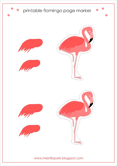 Free printable flamingo page marker - Flamingo-Lesezeichen - freebie