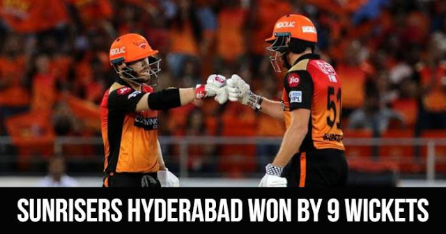VIVO IPL 2019 Match 38 SRH vs KKR Live Score and Full Scorecard