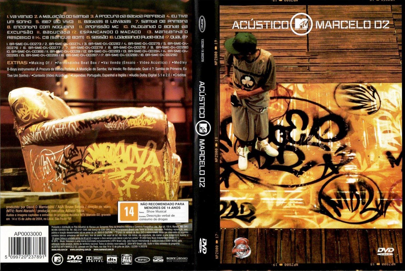 dvd marcelo d2 acustico mtv