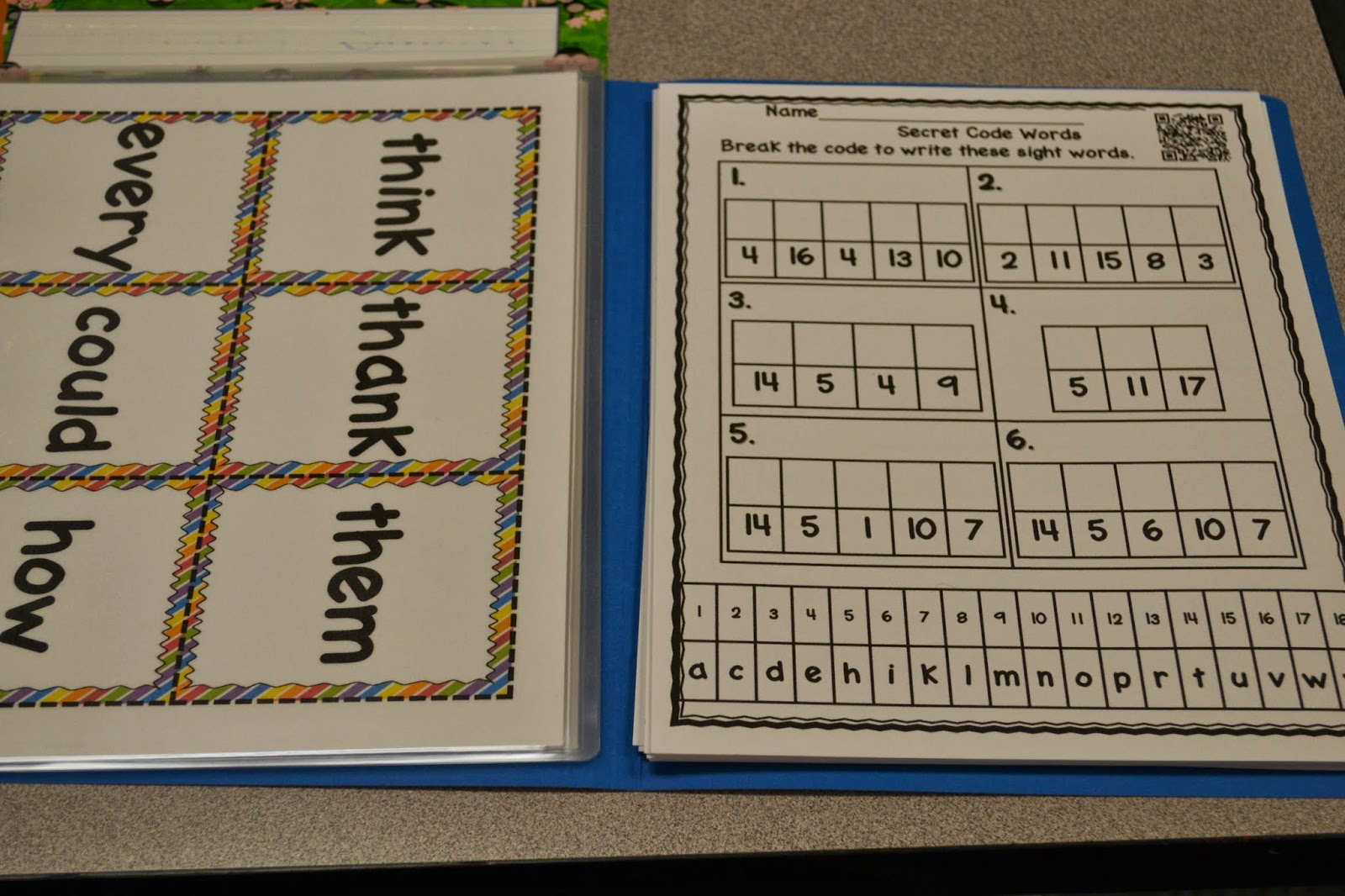 Mrs Hoffer S Kindergarten Sight Word Centers