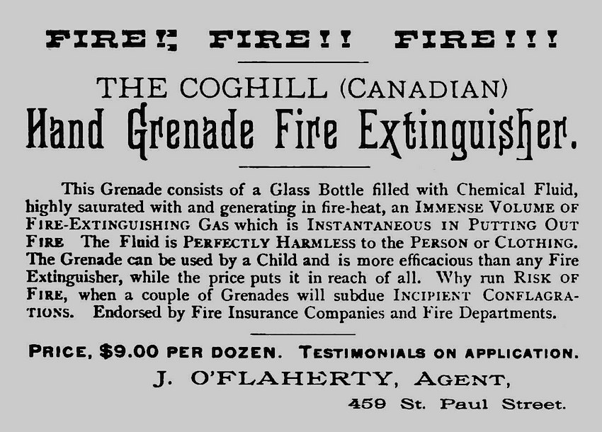 1883 hand grenade fire extinguisher