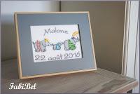 Un cadeau de naissance personnalisé pour un petit garçon.