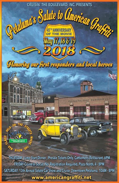 Cruisin 39 the boulevard for Petaluma craft fair 2017