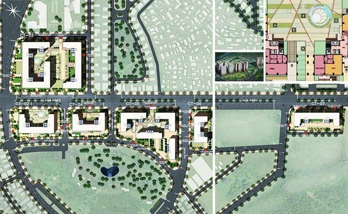 Mặt bằng dự án chung cư booyoung