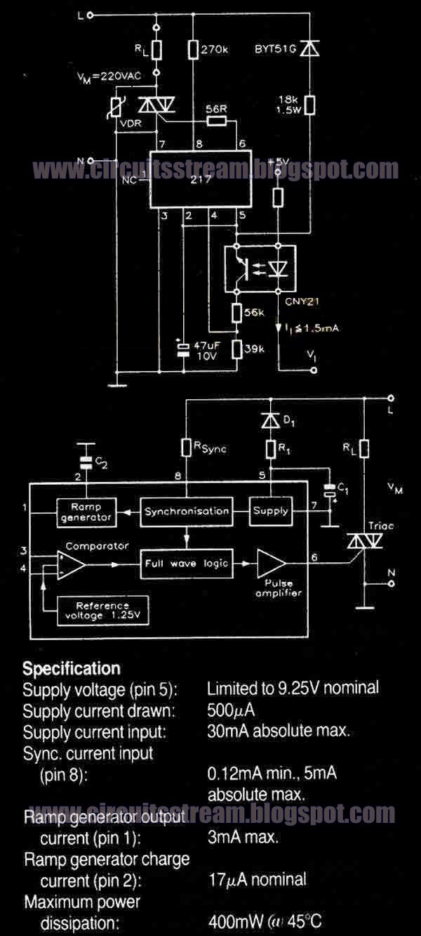 Temperature Controller Circuit Diagram With U217b