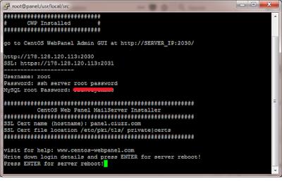 Cara Install dan Setting Centos Web Panel di VPS Digital Ocean dengan Sistem Operasi Centos 7
