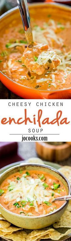 CHEESY CHICKEN ENCHILADA SOUP