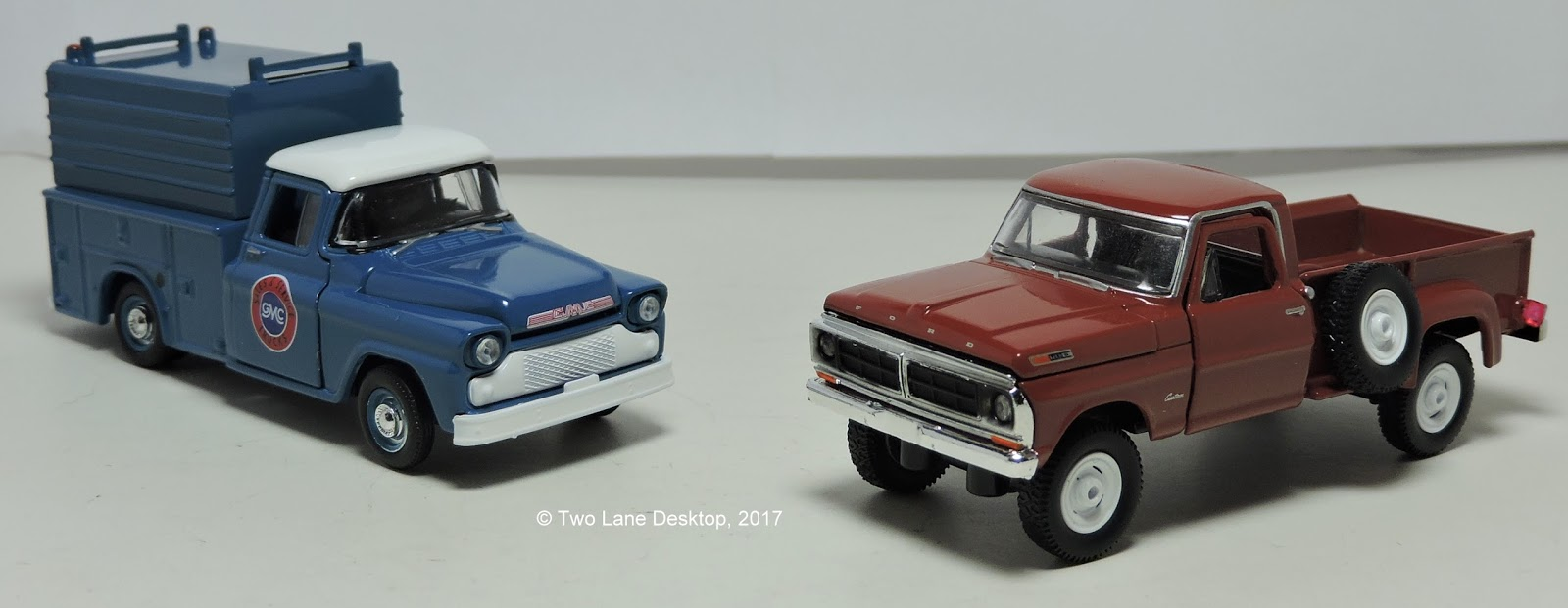 here s a look at a few good m2 machines truck castings with their first time bed variations the gm trucks have already gotten the utility trailer package  [ 1600 x 621 Pixel ]