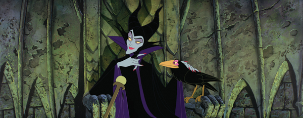 Maleficent plotting in her castle in Sleeping Beauty 1959 movieloversreviews.blogspot.com
