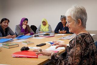 Image of Dame Jacqueline Wilson at LEAH literacy class