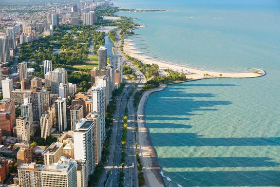 Lago Michigan em Chicago