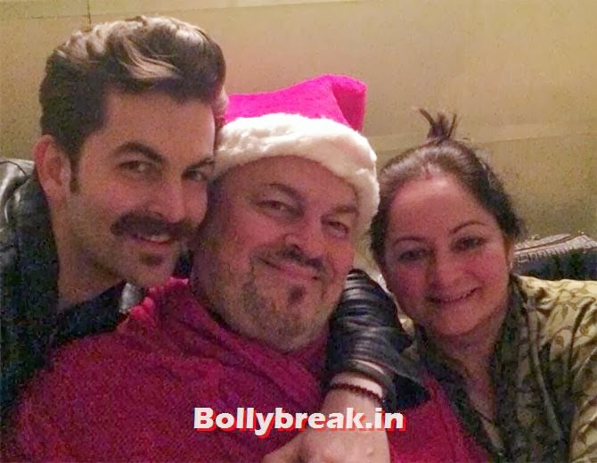 Neil Nitin Mukesh, Nitin Mukesh and his wife., Bollywood celebs Christmas Pictures