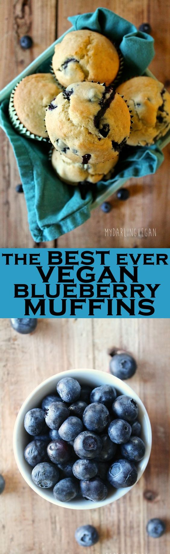 These vegan blueberry muffins