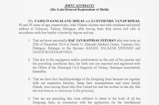 October 2013 filesishare joint affidavit late or delayed registration of birth yelopaper Images