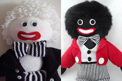 white black golliwogs