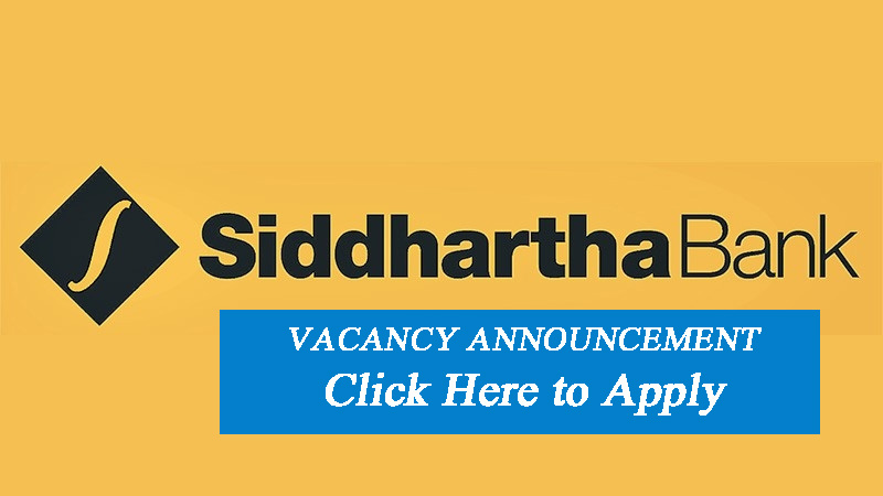Siddhartha Bank Vacancy Announcement - Career in Micro Banking