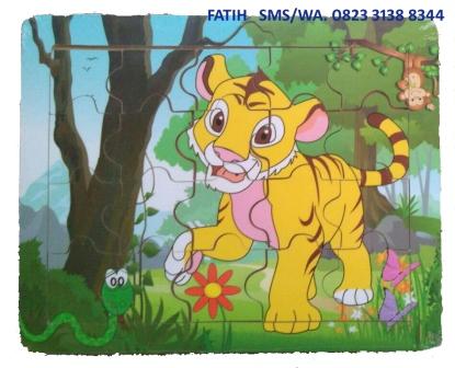 Puzzle Edukasi Harimau