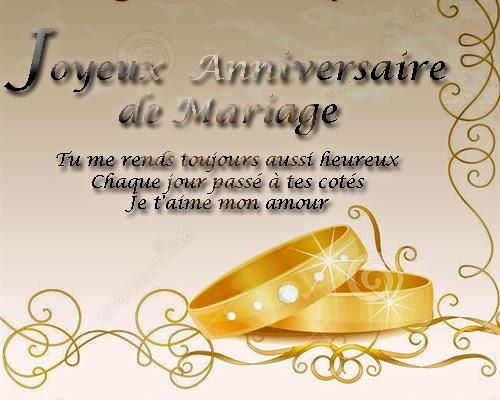 Carte d anniversaire de mariage a imprimer gratuite invitation mariage carte mariage texte - 10 ans de mariage cadeau ...