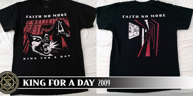 Official Faith No More T Shirt King For A Day Black Mens Classic Rock Band Tee