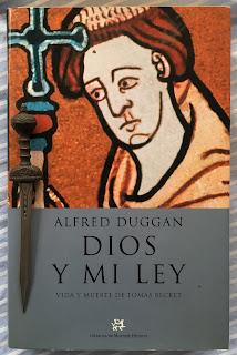 Portada del libro Dios y mi ley, de Alfred Duggan