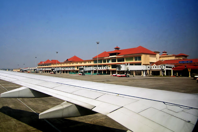cochin airport view from plane